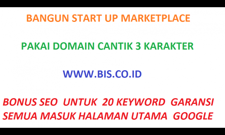 !! Premum Domain Untuk Aplikasi Start Up  Super Keren