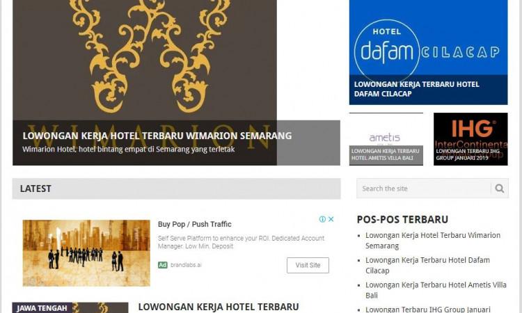 - A Website Lowongan Siap Kerja karirhotel.com (Adsense+Hosting+Domain)