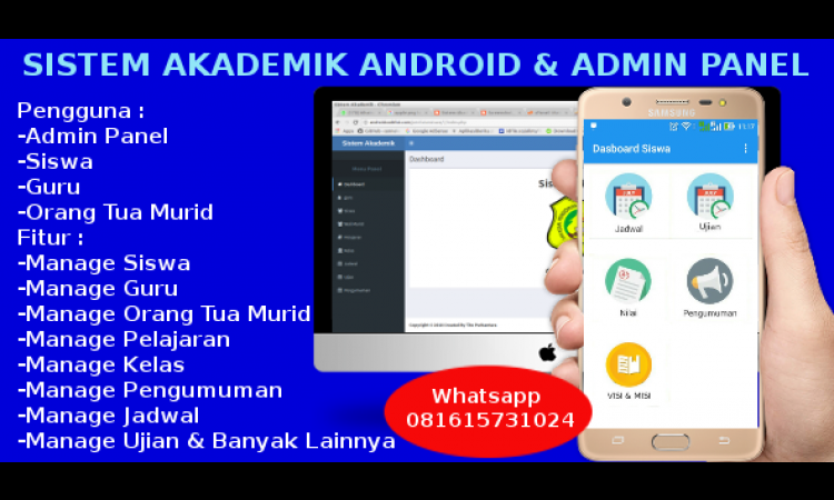 Source code siakad android dan admin panel